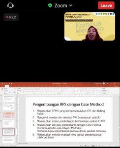 Terapkan Case Method dan Team Based Project Learning dalam MK yang Aplikatif, Prodi BK Unikama Gelar Workshop